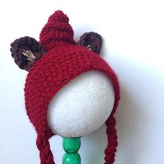 Little Red Riding HoodCrochet Hat by GinghamAndGraceEtsy on Etsy