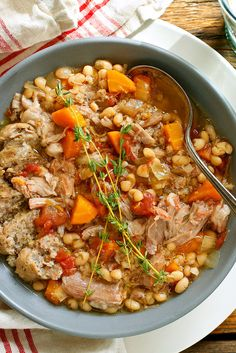 NYT Cooking: Many look down their noses at the slow cooker, but it's perfect for some dishes. Stews, for one. This sausage, duck and white bean stew is rich and hearty, and you can leave the dish wholly unattended for five to seven hours as it cooks. Brown the meat before you put it in the pot or not.
