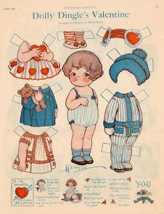 Miss Missy Paper Dolls: Dolly Dingle's Valentine