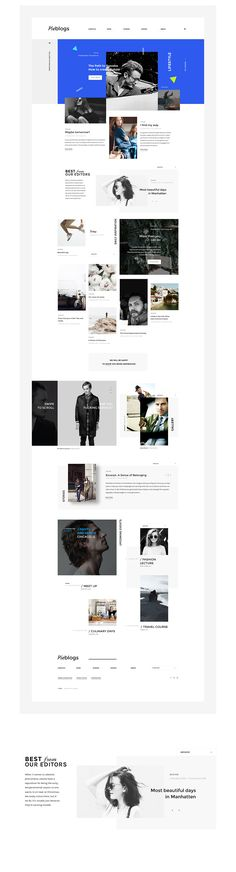 Pieblogs on Behance #web #webdesign #design #layout #grid #blog
