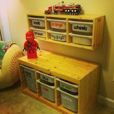 DIY Lego organization..ways to organize the Lego mess!