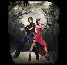 jill valentine and leon kennedy