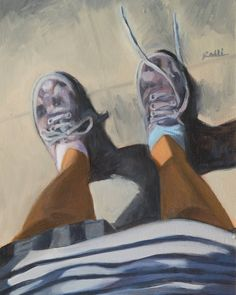 "Lorenzo Sammartino aka Rolli on Instagram: ""Noemi - #oilpainting on #panel 25x35cm #fineart #pretty #shoes #legs #perspective #perspectives…"""