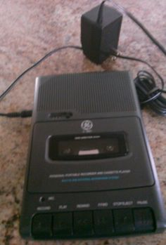 General Electric Personal Portable Recorder and Tape Player #GE