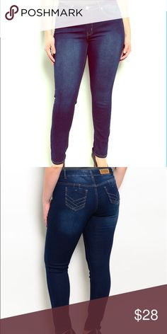 Women's Plus Size KABA Jeans These KABA Jeans Denim pants feature a great stretch, flattering fit, unique stitching on back pockets, skinny cut. High quality plus size line. NWT. KABA Jeans Jeans Skinny