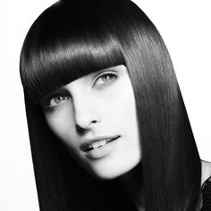 Fringe hairstyle A fringe is a great way to hide everything from forehead wrinkles to over-plucked eyebrows and an uneven face shape. Opt for a bold, blunt version this season. A wispy fringe just won't cut it in Hair by Charles Worthington -pin it by Side Bangs Hairstyles, Fringe Hairstyles, Latest Hairstyles, Straight Hairstyles, Stylish Hairstyles, Hair Trends 2015, Hair Styles 2014, Medium Hair Styles, Long Hair Styles