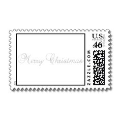 Silver Merry Christmas Postage Stamp for you at www.zazzle.com/superdumb #zazzle #christmas #xmas