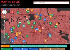 Zombie Survival Map!!! How cool is this. Type in your location and find out what supply stores, food stores, emergency locations and any other place that may come in handy near you!
