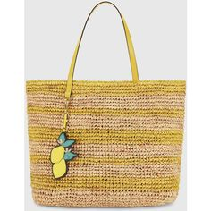 Draper James - Straw St Simon Bag ($195) ❤ liked on Polyvore featuring bags, handbags, tote bags, beige tote, straw handbags, crochet purse, crochet handbags and tote handbags