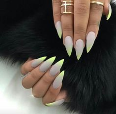 Soft grey with neon tips