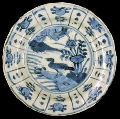 A small kraak dish from the Wanli (c.1625) shipwreck. This dish is more than likely made at the Guangyinge kiln complex (Jingdezhen, China) where we have located production waster similar to this dish. The main decorative motifs are Chinese auspicious symbols wishing for a healthy and long life. The dish is totally intact with good glaze and soft decoration and limited 'tender edges'.  The plate will be delivered with a Certificate of Authenticity - http://www.thewanlishipwreck.com/