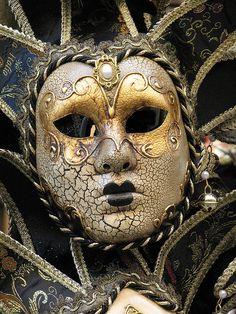 Venetian mask by LittleMissBigFeet, via Flickr.