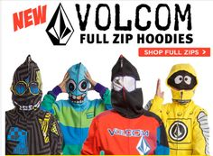 Admit it.. you want one in your size too. Volcom Full Zip Hoodies @ AxlsCloset