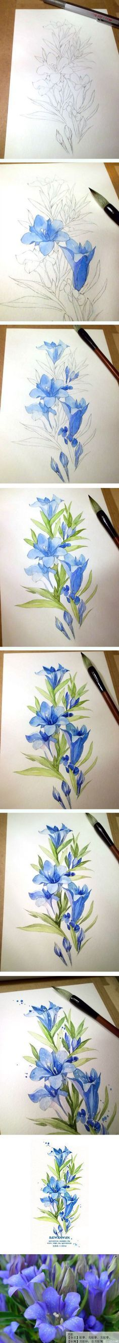 20 Delicate Colorful Watercolor Flower Painting Tutorials In Images-HOMESTHETICS (1)