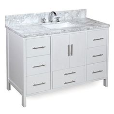 "48x22x36 all included California 48"" Single Bathroom Vanity Set   Wayfair"