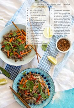 WTCT Thai Beef Salad with Rice Noodles