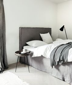 ♅ Dove Gray Home Decor ♅  bedroom simplicity in grey and white