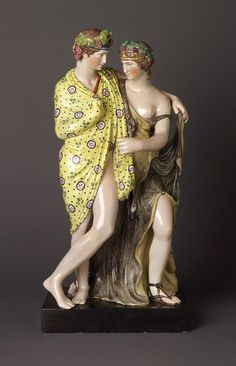 Bacchus and Ariadne  Staffordshire, England; 1790–1810  Earthenware (pearlware)