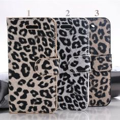 HOT Selling Protective Leopard PU Leather Case with Stand for iPhone 5