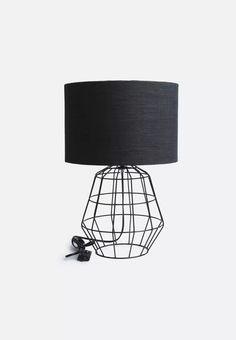 Black Lamp albus twisted table lamp | john lewis, colour black and black