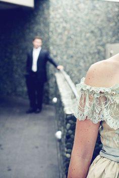 beautifulpaper: Caitlin and Richard   Polka Dot Bride//