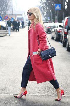 Fashion Editor Mie Juhl wearing Ganni Teddy Coat