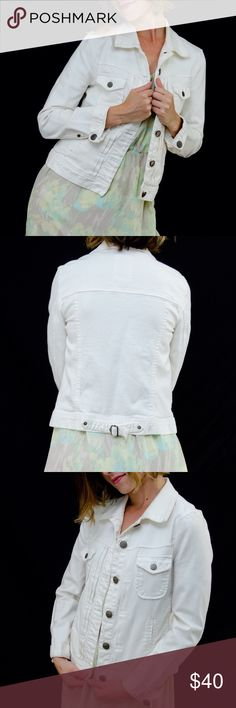 J Crew White Jean Jacket Cute and casual white Jean jacket. Jacket is in good used condition. J. Crew Jackets & Coats Jean Jackets