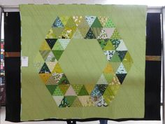 Green Triangle Quilt | Tarra of the Saskatoon Modern Quilt Guild