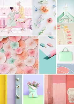 ANNY& Pastel Colors, Pastels, Social Media Buttons, Yoga Art, Pretty Pastel, Inspiration Boards, Color Pallets, Photomontage, Mood Boards