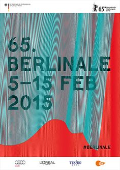 The Berlin International Film Festival will take place from February 5 to but starting in mid-January, the Berlinale poster will be displayed. Festival Cinema, Film Festival Poster, Berlin Film Festival, Graphic Artwork, Graphic Design Posters, Typography Inspiration, Graphic Design Inspiration, Berlin Club, Audi