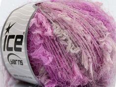 lot of 2 Ice Yarns BowTie Lurex fashion yarn silvery pink 66 yds each