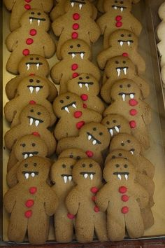 vampire gingerbread men, perfect for halloween!