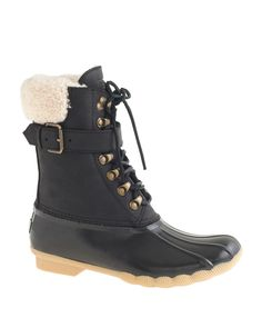 Sperry top-sider for J.Crew shearwater ankle boots, $160, available at J.Crew.