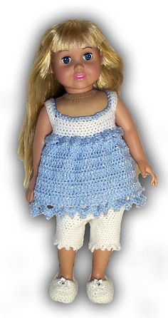 "$4.99~Ravelry: American Girl or 18"" Doll Flower Petals Outfit pattern by Danielle Bonacquisti"