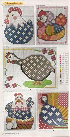 Cross-stitch Chickens, part 1
