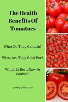 Tomatoes are packed full of vitamins, minerals and essential amino acids. The health benefits of tomatoes cannot be ignored. Small Tomatoes, Roma Tomatoes, Growing Tomatoes, Tomato Benefits, Health Benefits Of Tomatoes, Healthy Food, Healthy Recipes, Whats Good, Organic Vegetables