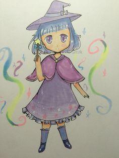 My OC, Ruri. Please ignore the background, I hate making background ; - ;