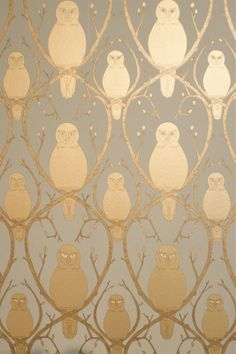 Abigail Edwards Briar Owl Wallpaper