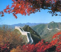 Bucket List Item: Walk (a portion of) the Great Wall of China Travel Around The World, Around The Worlds, Red Tree, Great Wall Of China, Life Is An Adventure, Heaven On Earth, Places To See, Beautiful Places, Country Roads
