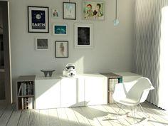 3D Salon  #livingroom #3D #3Dsmax #architecture #design #Eames #stormtrooper