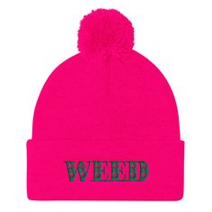 Don't you think weed be great together ? Weed Weave Pom Po... Get me here -> http://weedweave.com/products/weed-weave-pom-pom-knit-cap?utm_campaign=social_autopilot&utm_source=pin&utm_medium=pin