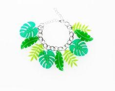 tropical leaf bracelet