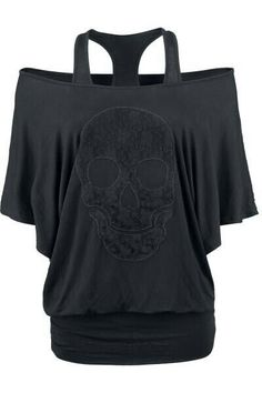 Beautiful Lace Skull top by EMP Rock Rebel Fashion Mode, Look Fashion, Womens Fashion, Fashion Black, Trendy Fashion, Winter Fashion, Skull Fashion, Gothic Fashion, Lolita Fashion