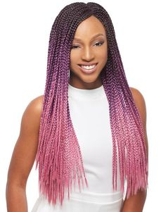 Janet Collection 3S Havana Box Braid 24 Inches