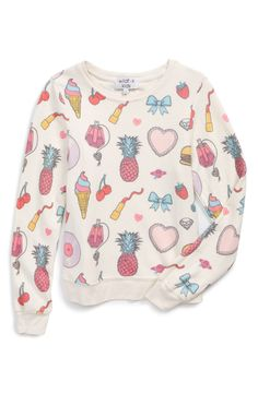 Wildfox Graphic Print Sweater (Big Girls)