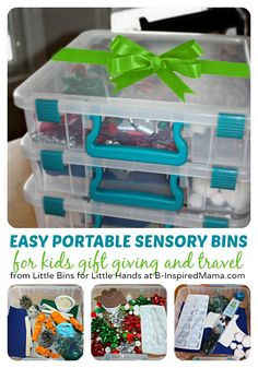 Easy & Portable #Sensory Bin #Gifts for #Kids - #sensorybin #spd #kbn
