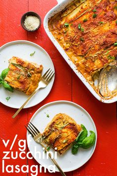 AMAZING #Vegan #Glutenfree #Lasagna with DIY Nut Ricotta 8 ingredients protein-rich SO #healthy #recipe #lasagna #dinner #minimalistbaker