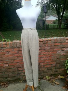 Glen Plaid Dress Pant From Talbot's With High Waist by PDeeVintage, $8.89