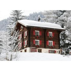 Vacationing in the Swiss Alps The Exclusive Chalet Bear ❤ liked on Polyvore featuring backgrounds