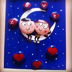 ❤️Amor en el aire ❤️ #artist #stone #stones #drawing #pencil #love #gift #amor #valentines #sanvalentin #design #cuadros #yoga #hechoamano #handmade #piedras #piedraspintadas #rocks #tattoo #kids #pebbles #artesania #instaart #puq #moon #loveinmoonlight #acrilico #gallery #heart #corazones